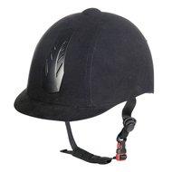 HKM Riding Helmet New Air Stripe Dial System Black/Black