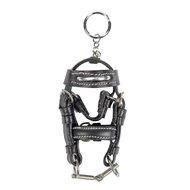 Hkm Sleutelhanger Mini Hoofdstel Zwart/zilver