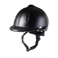 HKM Riding Helmet Easy Plain Smooth Plastic Finish Black