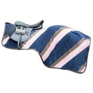 Hkm Uitrijdeken Diagonaal Klittenband donkerblauw/lichtroze
