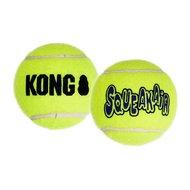 Kong Air Squaker Tennisbal Geel 3st Geel