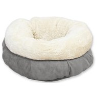 All For Paws Lambswool Donut Bed Grey Grijs