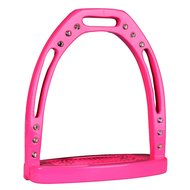 Horka Aluminium Steigbügel m. Diamanten Pink