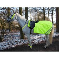 Horka Exercise Rug Reflective Fluo Fleece Lining Yellow