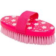 IR Borstel Medium metHandgreep Fashion Flower Pink