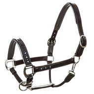 Imperial Riding Head Collar Lavarre Leather Navy-Metal