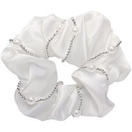 IR Hair Elastic Crystal Pearl White
