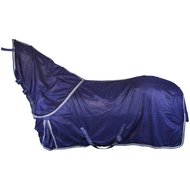 Imperial Riding Fly Rug with a Removable Hood Navy