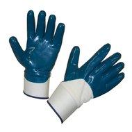 Keron Nitril blau - Handschuh BluNit mit Stulpe Blau 10