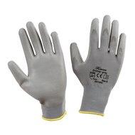 Keron Pu-handschoen Gnitter Grijs