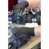 Keron Pu-handschoen Gnitter Zwart