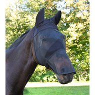 Kerbl Fly Mask Ears and nose Black Pony
