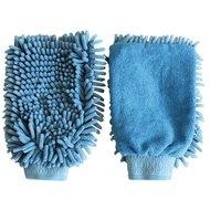 Kerbl Microfaser Putzhandschuh Blau