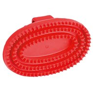 Kerbl Oval Rubber Currycomb Red