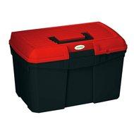 Kerbl Putzbox Siena m. Einsatz Schwarz/Rot 400x275x245mm