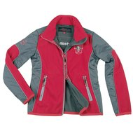Covalliero Fleecejacke Brix Kind Anthrazit/Rot
