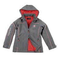 Covalliero Softshelljacket Duck Antraciet/Rood