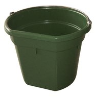 Kerbl Feed and Water Bucket FlatBack Green