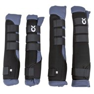Kerbl Stable and Transport Gaiters Neoprene Blue/Grey