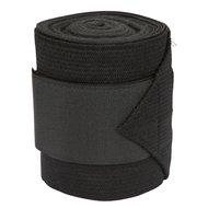 Kerbl Fleece met stretch bandage, 3 m Zwart, 4 stuks
