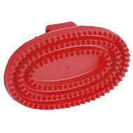 Kerbl Oval Rubber Currycomb Junior Red