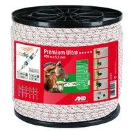 Ako Premium Ultra Schrikkoord 400m Wit/Oranje 5.5mm