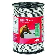 Ako TopLine Plus Afrasteringskoord 200m Wit/zwart 6mm