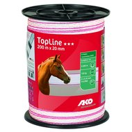 Ako Band Top Line Weiß Rosa 200m 20mm