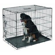 Kerbl Hondenkooi Opvouwbaar 2 Deurs Zwart 92x63x74cm