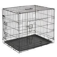 Kerbl Hondenkooi Opvouwbaar 2 Deurs Zwart 76x54x64cm