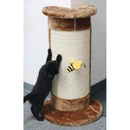 Kerbl Kratzsäule CORNER mit Biene am Band Braun 58cm