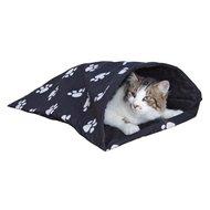 Kerbl Spielnest für Katzen mit Pfoten Schwarz 40x56cm