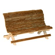 Kerbl Wooden Bench Nature Wood 30x15x18 mm