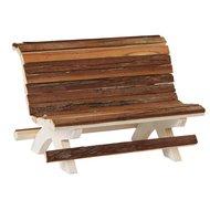 Kerbl Holzbank für Hamster Nature 18x11x12cm