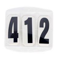 Kerbl Kopfnummern 3 teilig per Paar mit Klettverschluss