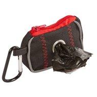 Kerbl Tas voor Poepzakjes Zwart/Rood 8x5,5x4cm