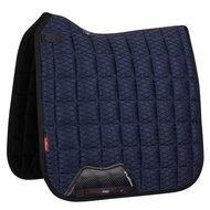 LeMieux Dressage Saddle Cloth Carbon Mesh Air CC Sq Navy L
