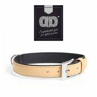 Duvo+ Popular Leder Halsband Beige/Zwart
