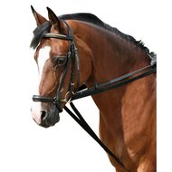 Pfiff Cotton Web Draw Reins Black