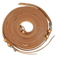 Pfiff Single Driving Reins Leather Light brown