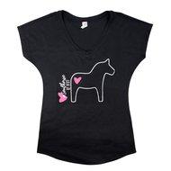 Pfiff t shirt met V hals paard