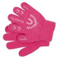 Pfiff Childrens Gloves Print Pink Rose