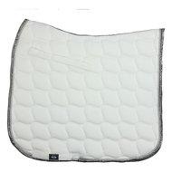 HKM Zadeldek Premium Dressuur Wit/Zilver