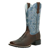 Ariat Western Quickdraw B Brown Oiled Rowdy / Sapphire Blue