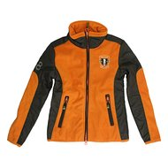 Covalliero Fleecejacke Brix Kind Braun/Orange