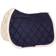 BR Event Schabracke Baumwolle VS Luxus Blau/Creme Streifen