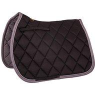 BR Saddlepad General Purpose Event Cotton with Luxury Black/Grey stripe