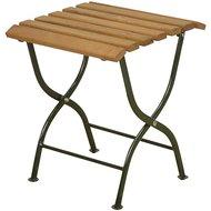 Esschert Opklapbijzettafel hout/metaal/groen 38x38x44cm