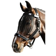 Harrys Horse Flybrowband with Fringes Black