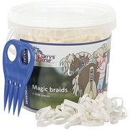 Harrys Horse Petits Élastiques Magic Braids Pot Blanc